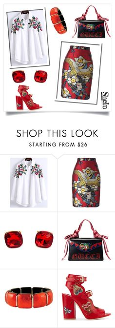 """""""Untitled #134"""" by big-heart-845 ❤ liked on Polyvore featuring WithChic, Dsquared2, Gucci and Laurence Dacade"""