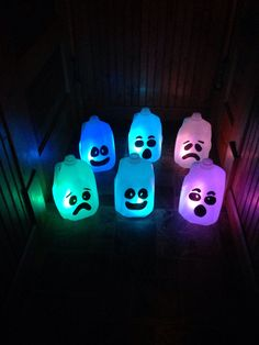 milk jug ghost luminaries - going to try these with water and glow sticks
