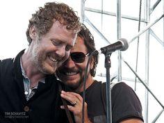 PJ20 - Eddie Vedder & Glen Hansard by tschavitz, via Flickr