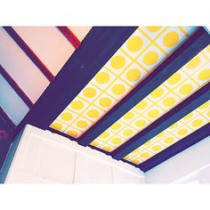 Geometric ceiling at William Morris' Red House, London — Instagram by Mina Bach