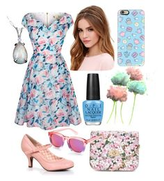 """""""Cute summer Flowers"""" by ingridmv on Polyvore featuring Yumi, Casetify, LULUS, OPI, LYDC, Wildfox, Summer, cute, Flowers and floralprint"""