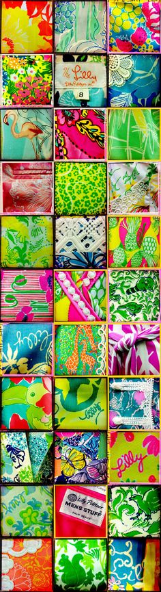 These are some really great Vintage Lilly Pulitzer patterns!