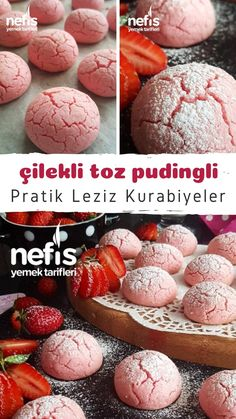 Çilek Kokulu Çilekli Toz Pudingli Kurabiye – Nefis Yemek Tarifleri How to Make Strawberry Scented Strawberry Powder Pudding Cookie Recipe? Illustrated explanation of this recipe in book and photographs of those who try it are here. Yummy Recipes, Fun Easy Recipes, Cookie Recipes, Dessert Recipes, Yummy Food, Tasty, Pudding Recipes, Biscuits, Cupcakes