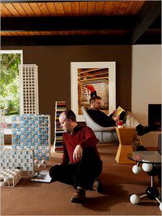 Douglas Coupland's living room, Vancouver BC // via New York Times