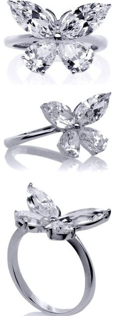 Butterfly Diamond Ring ♥✤ | Keep the Glamour | BeStayBeautiful