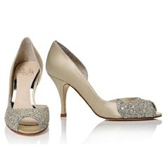 Love Art Wear Art Sabreen Antique Gold - Wedding Shoes - Crystal Bridal Accessories