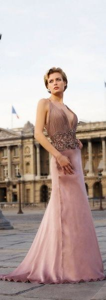 Love the waist and the bottom of the dress.