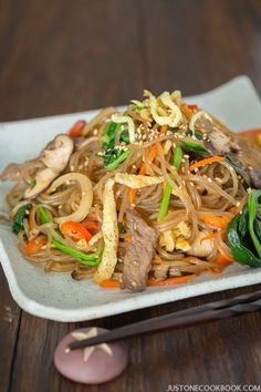 Japchae (Korean Glass Noodles with Stir-Fried Vegetables and Meat ...