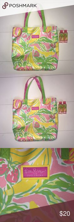 249119ef6d1982 Lilly Pulitzer Estee Lauder Travel Beach Bag Tote Lilly Pulitzer for Estee  Lauder Tote with a