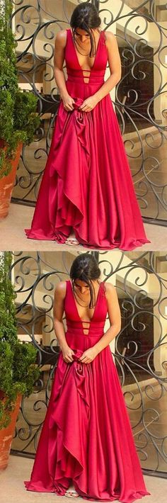 Long Prom Dresses,Prom Dresses,Red Prom Dresses,Deep V Neck Prom Dresses,Silk Prom Dresses,Off the Shoulder Prom Dresses,A Line Evening Dresses