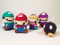 Crocheted Super Mario Characters