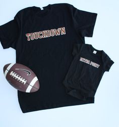 This listing includes both the unisex adult Touchdown t-shirt AND the child…