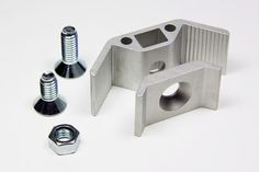 PLY90 clip bracket assembly, short screw for materials .450-.600, long screw for materials .600-.755 inches
