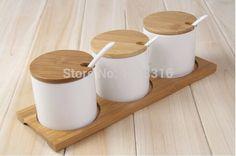 Free shipping Cute lovely porcelian ceramic  seasoning pot set Ceramic Cruet jar…