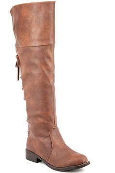 KHAKI FAUX LEATHER BACK LACE DESIGN KNEE HIGH CASUAL BOOTS,Women's Boots-Sexy Boots,Heel Boots,Flat Boots,Over The Knee Boots,Knee High Boots,Thigh High Boots,Fringe Boots,Cowboy Boots,Suede Fringe Boots,Rider Boots,Combat Boots,High Heel Boots,Platform Boots,Western Boots,Black Suede Boots,Gladiator Boots