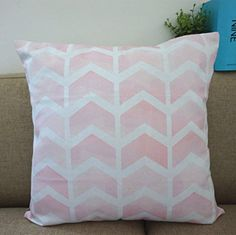 "Howarmer® Square Cotton Canvas Pink Decorative Throw Pillows Cover for Couch Arrow Pink 18""x 18"" Howarmer http://www.amazon.com/dp/B00OXW5X4E/ref=cm_sw_r_pi_dp_I9pmwb1ECQMES"