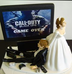 I have a feeling that, if things continue like they are, then this will be my wedding cake topper... Why must I love an XBox addict?