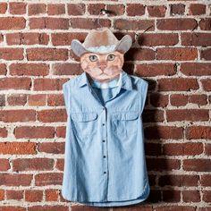 The Cowboy Cat hanger with the John Wayne stare and no-nonsense attitude.