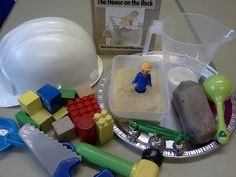 Wise and Foolish Builders Story Bag: tell the story at home with things you might already have lying around!