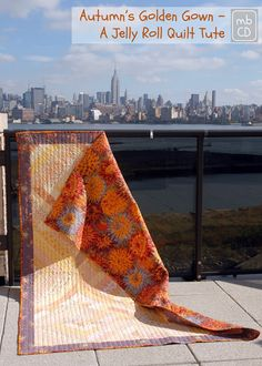 Chris Dodsley @mbCD: Introducing Autumn's Golden Gown - A Jelly Roll Quilt Tute