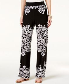 44.99$  Buy now - http://viouq.justgood.pw/vig/item.php?t=kbvdf28377 - Petite Printed Wide-Leg Pants, Only at Macy's