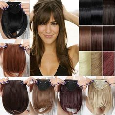Sales Synthetic Hair Fringe Bang Hairpiece Clip-In Front Hair Extension Straight. Hot Straight Synthetic Hair Fringe Bang Hairpiece Clip-In Front Hair Extension. Hot Straight Synthetic Hair Fringe Bang Hairpiece Clip-In Front Hair Extension. Fringe Hairstyles, Hairstyles With Bangs, Trendy Hairstyles, Straight Hairstyles, Clip In Extensions, Synthetic Hair Extensions, Clip In Fringe, Clip In Hair Pieces, Hair Extension Clips