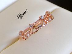14K Gold Vermiel Dainty Ring,Minimalist delicate ring.