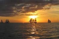 Sunset at Mallory Square in KeyWest.