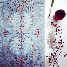 #illustration #process #illustrator #drawing #berries #pattern #botanical