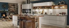 love the clean white cabinets and open wood display shelves. NEW Lamona Cookbook - Baking made simple