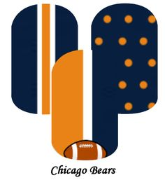My custom Jamberry Wraps chicago bears NAS Nail Wraps #jamberry #gabbysjams Contact me if you are interested in purchasing them:https://www.facebook.com/groups/1000449243382687/ or gabbysjams@gmail.com or https://www.facebook.com/gabbysjams/ DIY, nail art, cute,