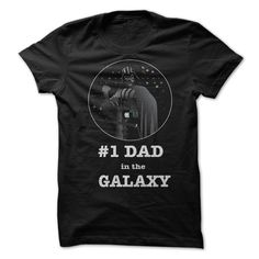 Dad t-shirt #1 - #1 Dad in the galaxy - The proud t-shirt for any dad. (Dad - Father's Day Tshirts)
