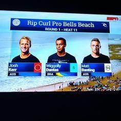 Go @wiggolly!!! Go Ubatuba!!! Go Brazilian Storm!!! #surf #espn #gobrazilianstorm #bellsbeach #vaiBrasil #surfinfamily #wsl by personaldp http://ift.tt/1KnoFsa
