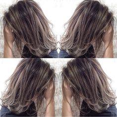 Purple Hair, Ombre Hair, Cute Hairstyles, Wedding Hairstyles, Medium Hair Styles, Short Hair Styles, Hair Arrange, Hair Color And Cut, Light Hair