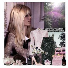 """Untitled #2260"" by tina-teena ❤ liked on Polyvore featuring Lena Hoschek, Cédric Charlier, Miu Miu, Christian Louboutin, Avon, Dom Pérignon, philosophy, women's clothing, women and female"
