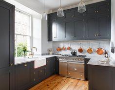 Lacanche Range in English Hard Wood Kitchen UK