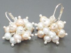 Claudia Earrings - Freshwater Pearls and Sterling Silver