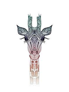 A arte na girafa! Mais