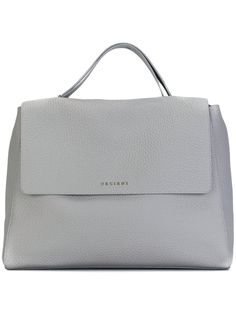 ORCIANI satchel tote bag Grey Leather 2781a6c15aa