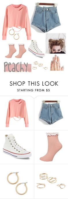 """Peachy"" by frankitt ❤ liked on Polyvore featuring Rothko, Converse, Dorothy Perkins, Nordstrom, MANGO and alfa.K"