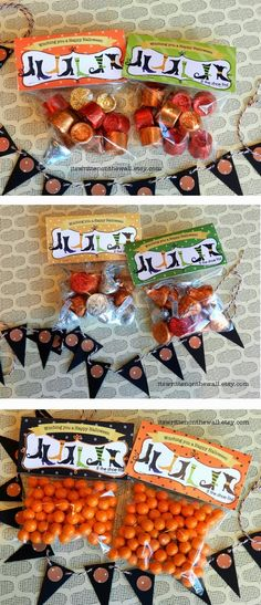 """THE MOTHER OF ALL PINS! 186 Homemade Christmas Gift Ideas - Great for #Christmas & #Halloween #Fundraising ideas! """"Witching you a Happy Halloween -Treat Bag Toppers - If the Shoe Fits"""""""