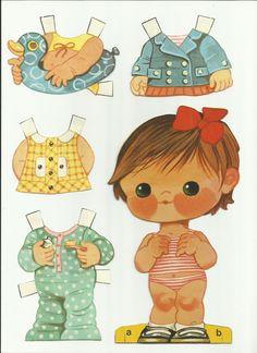 A Elivania teve a delicadeza de escanear suas bonequinhas de papel só para compartilhar com a gente... Super obrigado! E olha que graça a bo...