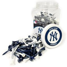 Team Golf 964621 MLB Licensed New York Yankees Regulation Golf Tees, 175 pack at Lowe's. A day out on the golf course is already a fun time. Add to this fun by representing your favorite MLB team out on the course with this Team Golf New York New York Yankees, Yankees Gear, Thing 1, Mlb Teams, Golf Lessons, Fantasy Football, Golf Tips, Gears, Golf Courses