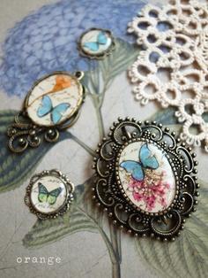 resin #bluebutterfly