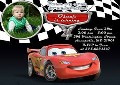 Disney Cars Lightning McQueen Birthday Party by FabulousInvitation, $8.99