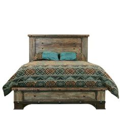 """CAM800QUEEN in by L.M.T. Rustic and Western Imports in Denison, TX - Queen : 68"""" x 86"""" x 59"""" Urban Rustic Bed"""