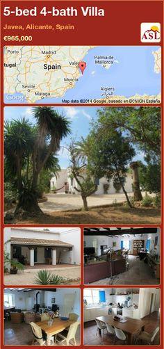 5-bed 4-bath Villa in Javea, Alicante, Spain ►€965,000 #PropertyForSaleInSpain