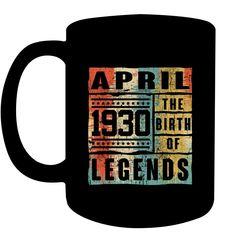 Retro The Birth Legend April 1965 Birthday Gifts 53 yrs Coffee Cups Mugs 19th Birthday Gifts, Birthday Cup, Sweet 16 Gifts, Birthday Cards For Boys, Coffee Gifts, Gifts For Teens, Coffee Cups, Mugs, Sleepover Activities