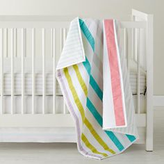 Baby Bedding: Sherbet Striped Crib Bedding in Crib Bedding Collections | The Land of Nod