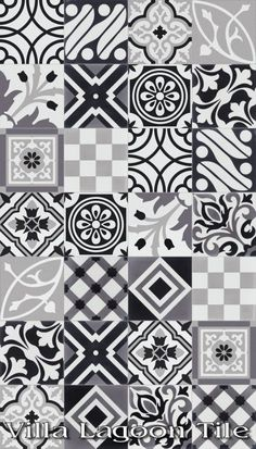 """""""Patchwork Evening"""" Cement Tile, from Villa Lagoon Tile."""